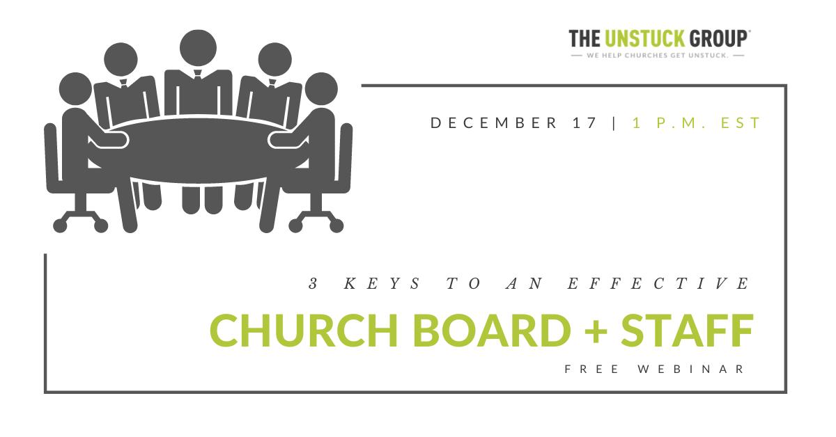 church boards + staff